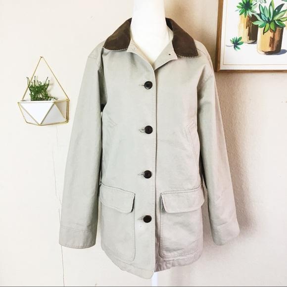9c627ea561d L.L. Bean Jackets   Blazers - LL Bean Barn Coat Canvas Cotton Flannel Lined